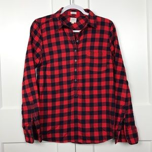 J. Crew Buffalo Check Flannel Shirt